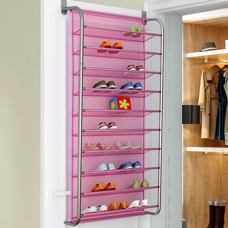 Simple Hallway Space Saving Shoe Organizer Over the Door Shoes Hanger Wall Closet Multi Layers Shoe Rack for Home Furniture