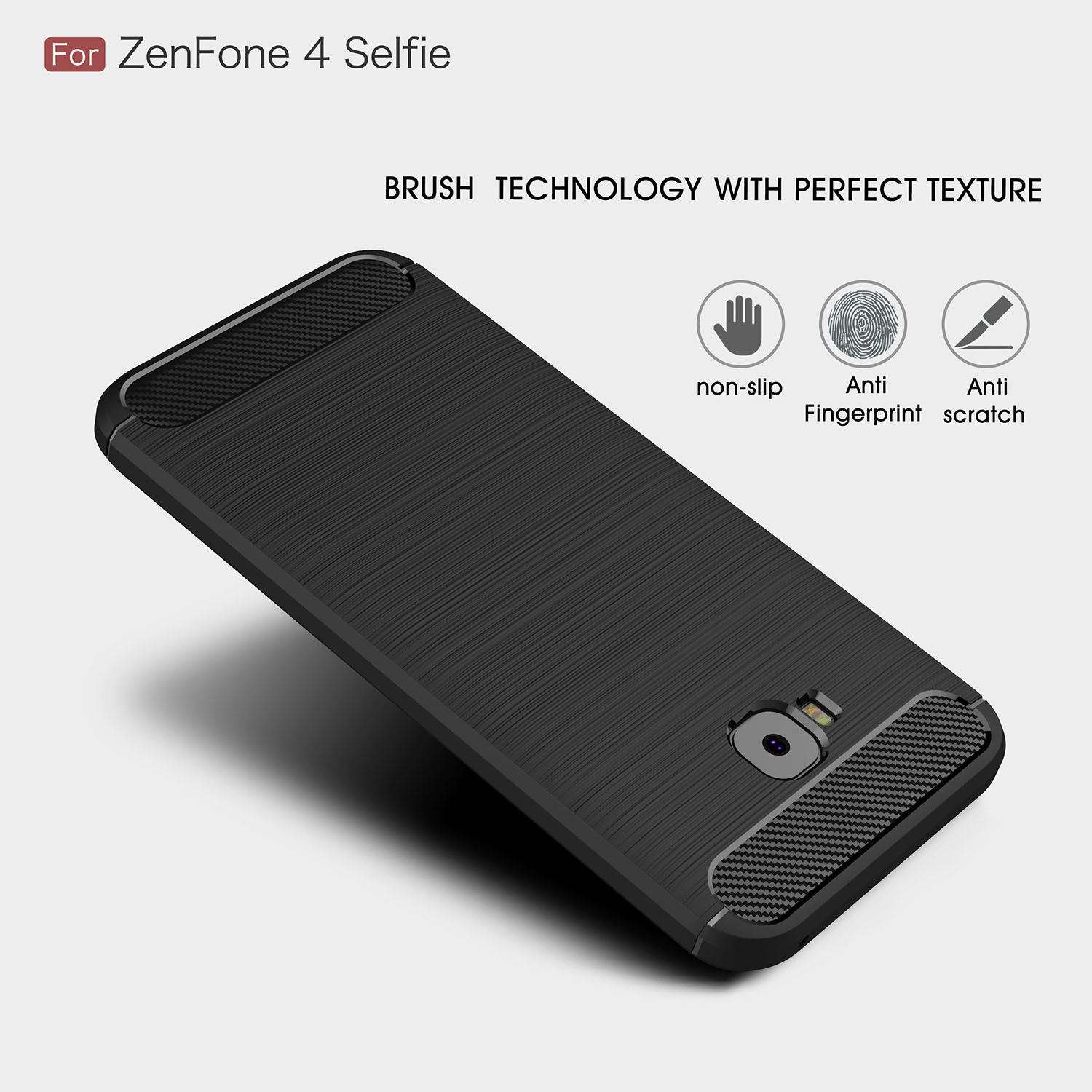 best service b7ec8 23b86 US $2.59 30% OFF|silicon Soft Case Cover For ASUS ZenFone 4 Selfie ZD552KL  Carbon Fiber TPU Back cover ZenFone4 Selfie Pro Shockproof Phone shell-in  ...