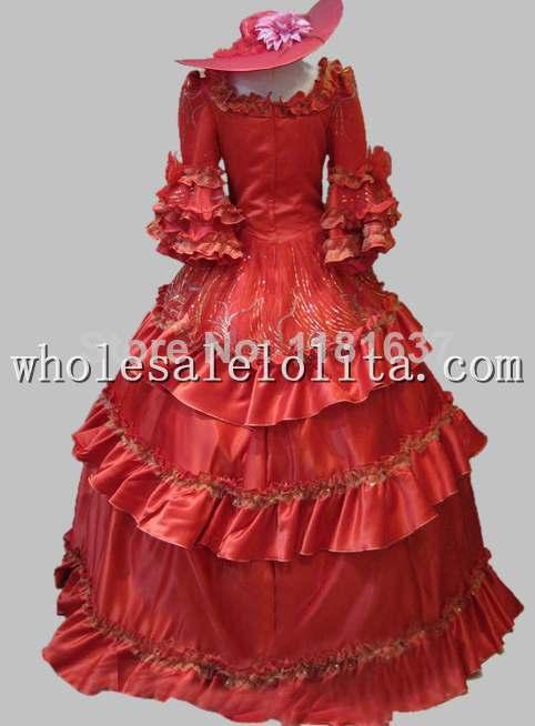 17 18e Eeuw Paars Marie Antoinette Rococo Europese Hof Baljurk Stage Kostuum Cosplay Kostuum