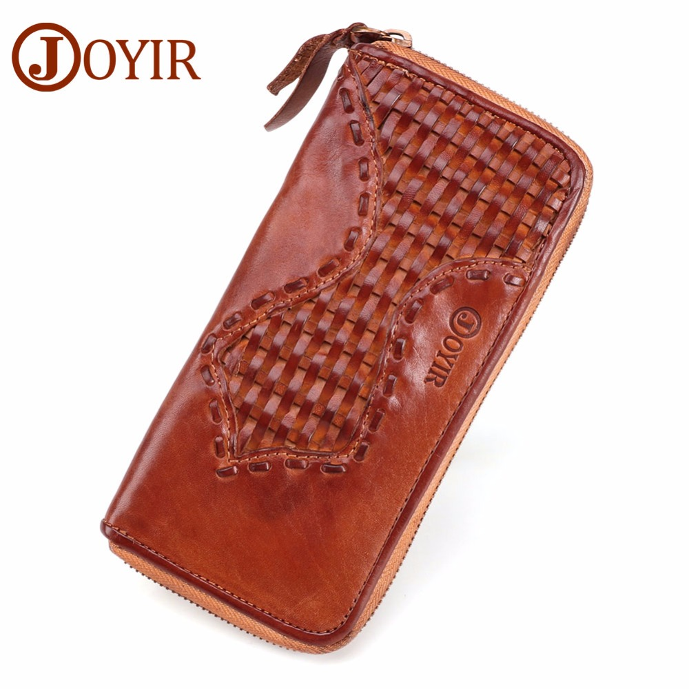 JOYIR Men Wallet Purse Genuine Leather Luxury Long Clutch Handy Bag Men's Clutch Wallet Zipper Long Wallets Carteira Masculina стоимость