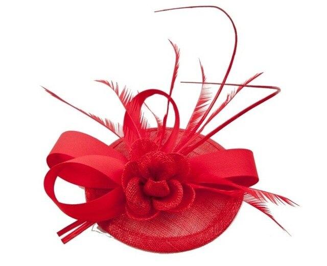 12pc Mini Top Hat Hair Clip Small Wedding Hats And Fascinators Chapeu  Casamento Hair Accessories Bridal Headwear WIGO0450 9b43377e524