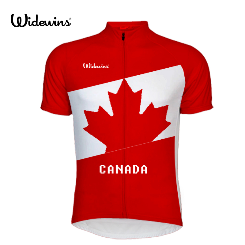 2017 Cycling Jersey Pro Team Canada Men Wear Maple Leaf Flag Jersey Short Sleeve Cycling MTB Bicycle Custom Man Clothing Jersey in Cycling Jerseys from Sports Entertainment