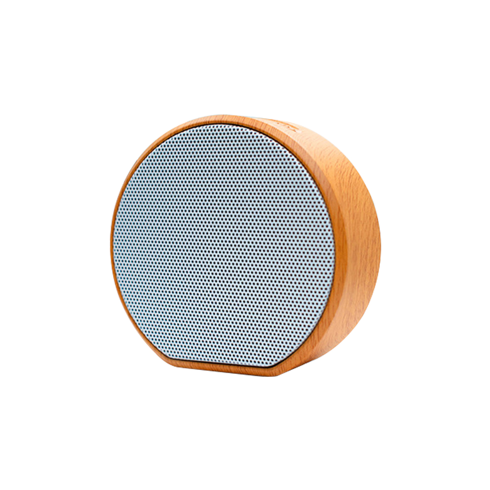 Outdoor Portable Small Wooden Wireless Wood Grain Audio Multi-Function Card Bluetooth Audio Grass Dam Speaker