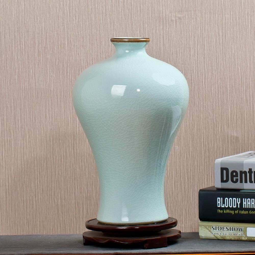 Jingdezhen Ceramics Archaize Kln Piece Of White Vase Ceramic Classical Household Adornment Handicraft Furnishing Articles