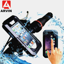 ARVIN Waterproof Motorcycle Bicycle Handlebar Phone Holder For iPhone X 8 7 Cycling Bike Mobile Case Bag Support GPS Mount
