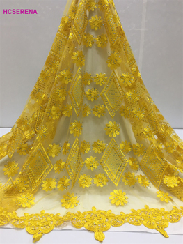 2019 Latest French Laces Fabrics High Quality Tulle African Laces Fabric For Wedding Nigerian Tulle Lace Material free shipping