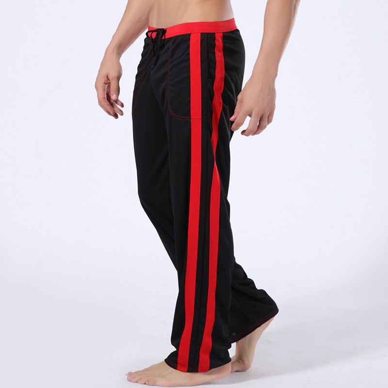 Soft Men Home Long Pants tether  Mens sleep Pant Low waist High quality brand Male Lounge Wear Pants 6 Color Available
