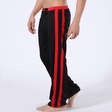 Soft Men Home Long Pants tether Sexy Mens sleep Pant Low waist High quality brand Male Lounge Wear Pants 6 Color Available