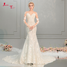 Jark Tozr Mermaid Wedding Dress Long Sleeve