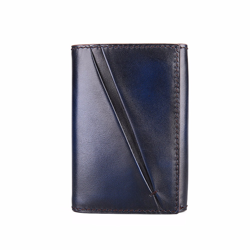 TERSE_2016 New Arrival Card Wallet Handmade Full Grain Leather Card Holder 3 Colors in Stock Unique Design Dropshipping Service