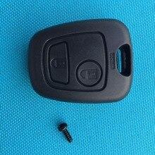 ZABEUDEIR 1 шт. запасной ключ пустой для PEUGEOT 107 207 307 407 106 206 306 406 2 кнопки дистанционного ключа брелок чехол оболочка без логотипа