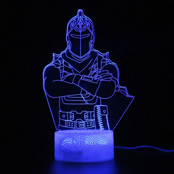 Lamp Game Battle Royale Knight Remote Control 3d Table Led Light Party Decoration Night Projection