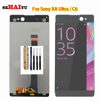 Tested New LCD Display Touch Screen For Sony Xperia XA Ultra C6 Screen With Digitizer Assembly
