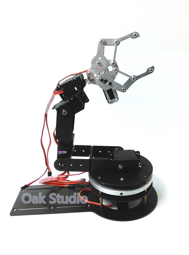 6 механическая рука 3-х степенной подвижности, Алюминий коготь из сплава/захват CL-1, высокий крутящий момент metal gear servo, вращение основания для робота DIY, исследование проекта