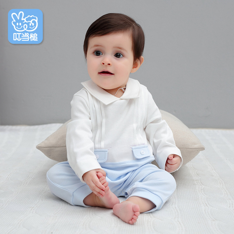 Dinstry spring and autumn Newborn baby boy clothes gentleman Cotton Long sleeve baby   Rompers