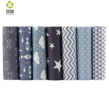 Gray Series Tissus Cotton Fabric Telas Patchwork Fabric Fat Quarter Bundles Fabric For Sewing Doll Cloths  40*50cm 7pcs/lot