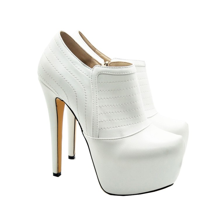 Plate Côté Haute Talon Chaussures Ligne Pompes Zip Femmes Pour Robe Kellyjimmy Sexy forme X1731 Coutures 8qIndAwA5x