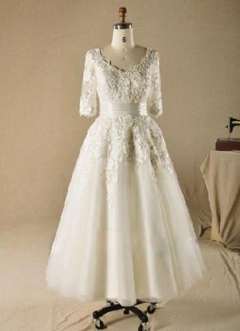 Popular Vintage Wedding Dress Size 16-Buy Cheap Vintage Wedding ...