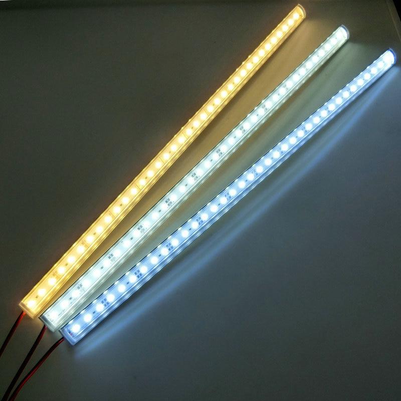 Image 5 - 5 قطعة/الوحدة جدار ركن LED مصباح بار تيار مستمر 12 فولت 50 سنتيمتر SMD 5730 شريط ليد صلب ضوء للمطبخ تحت خزانة-في مصابيح شريط LED من مصابيح وإضاءات على AliExpress