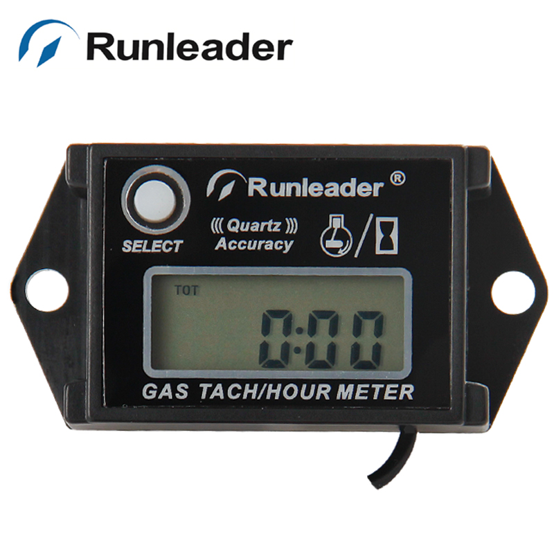 Waterproof digital hour meter tachometer for gas engine motorcycle motocross jet ski ATV mower boat marine dirt bike pit bike