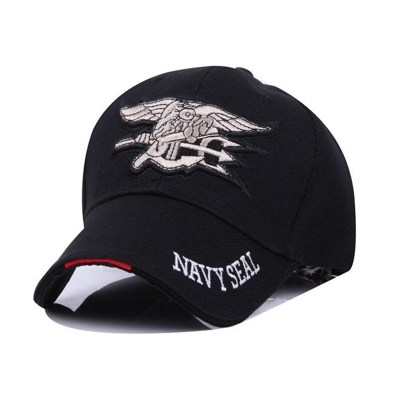 16eda9dbd9805 Men s Baseball Cap Tactical US Navy Seal Team Combat Train Snapback Cap  Militar Style Casual Hip hop Bone Gorras Hat Adjustable