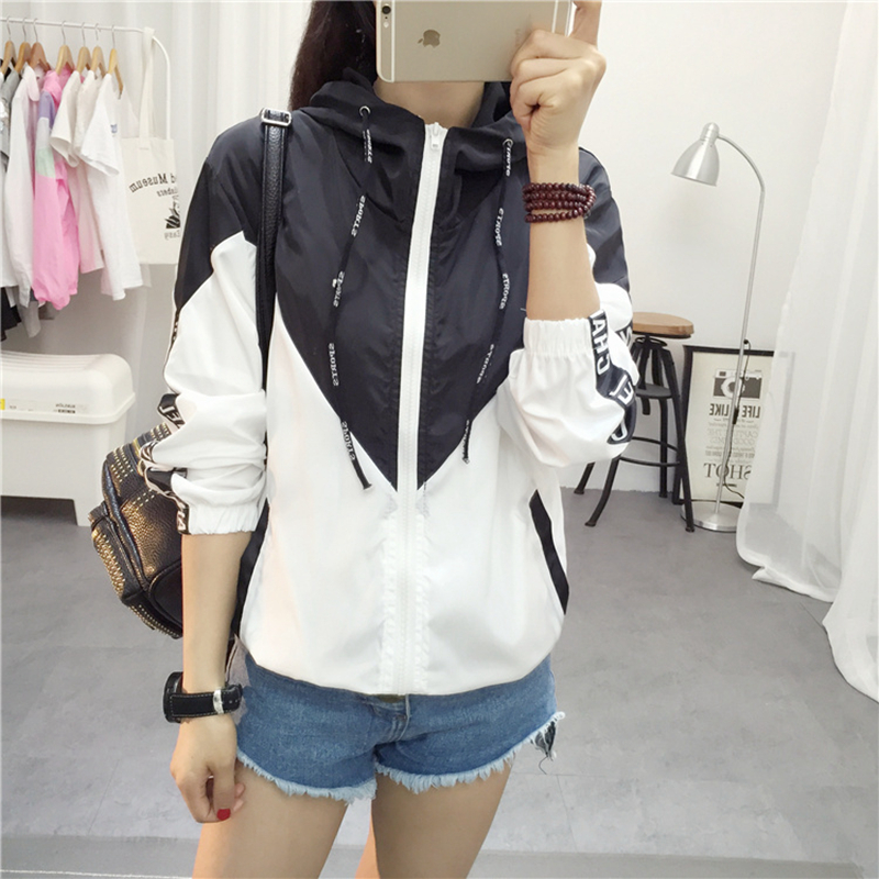 Jackets Women 2017 New Basic Jacket Women's High Quality Hooded Jacket Fashion Thin Casual Windbreaker Female Outwear Coat