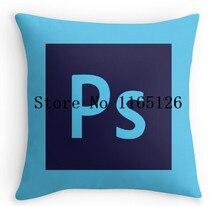 Heißer kissenbezüge Adobe Photoshop Icon Luxus Druck Platz Mit Reißverschluss Kissenbezug kostenloser versand