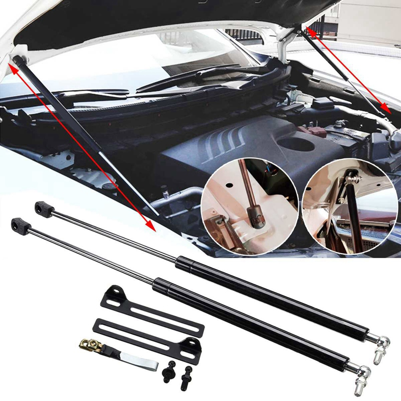 1Pair Car Front Engine Hood Lift Supports Props Rod Arm Gas Springs Shocks Strut For Nissan Qashqai J11 X-Trail T32 2014-2018