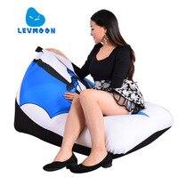 LEVMOON Beanbag Sofa Chair Batman Carton Seat Zac Comfort Bean Bag Bed Cover Without Filler Cotton