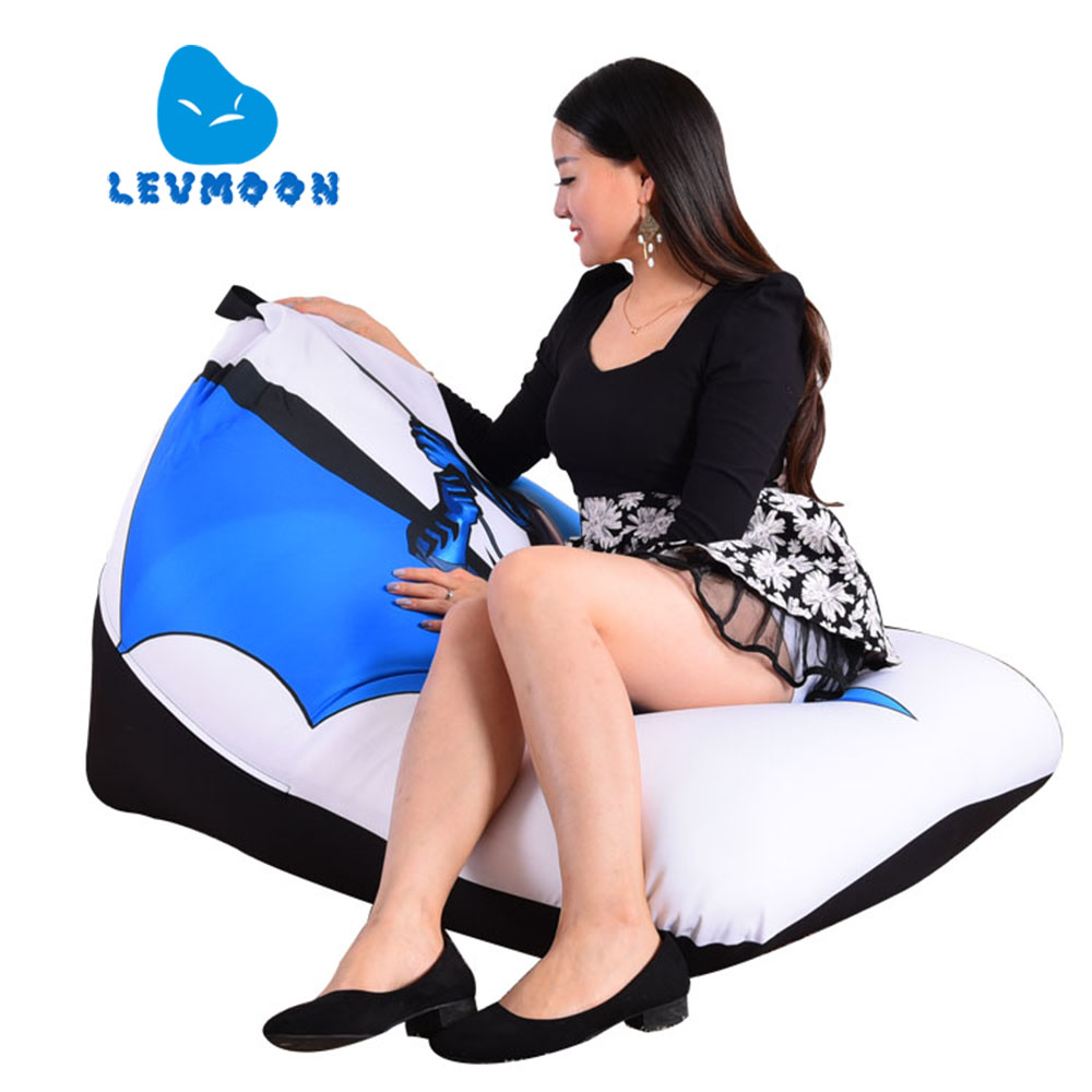 Genteel Levmoon Beanbag Sofa Chair Batman Carton Seat Zac Comfort Bean Bag Bed Cover Without Filler Cotton Indoor Beanbag Lounge Chair Home Furniture Living Room Sofas