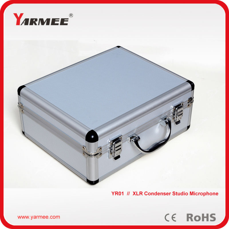 YARMEE Wired XLR Electronic Condenser Recording Microphone YR01 With Aluminum Box , Fast Shipping !!! best quality yarmee multi functional condenser studio recording microphone xlr mic yr01
