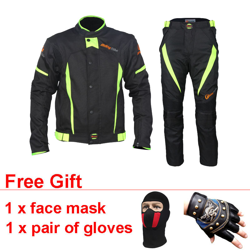 Windproof Motocross Protector Gear Set Combinaison Moto Motorcycle Jacket Pants Jersey Racing Suit Clothing Chaqueta Moto Race motorbike racing suit children combinaison course automobile kids chaqueta moto mujer baby car karting suit motorcycle suit car