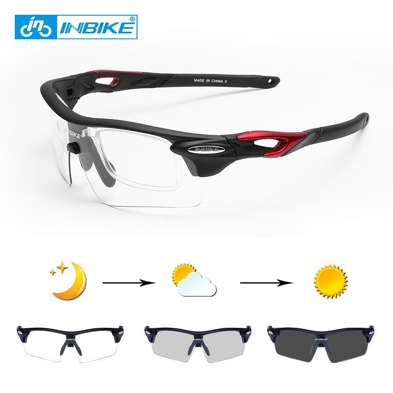 INBIKE Photochromic Sports Eyewear Windproof Cycling Glasses MTB Road Bike Polarized Sunglasses Fishing Running Bicycle Goggles