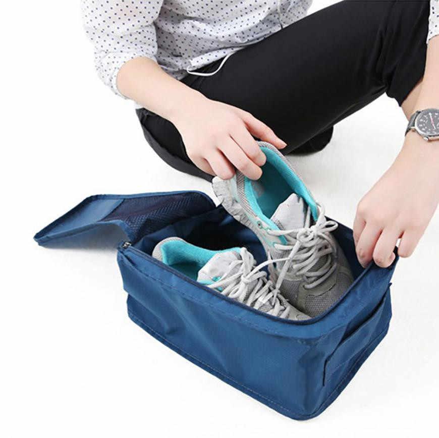 2019 חדש מכירה לוהטת נוח נסיעות אחסון מארגני ניילון נייד ארגונית שקיות נעל מיון מקרה