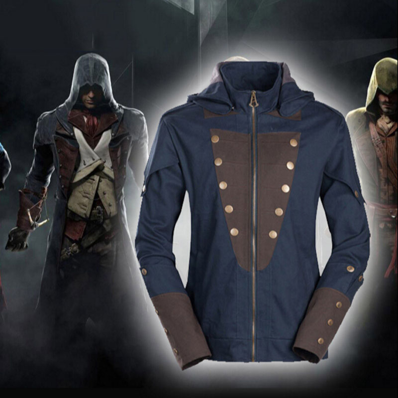 Unique Design Male Cosplay Jacket The Assassin s Creed Revolution Around ACU Arnold font b Men
