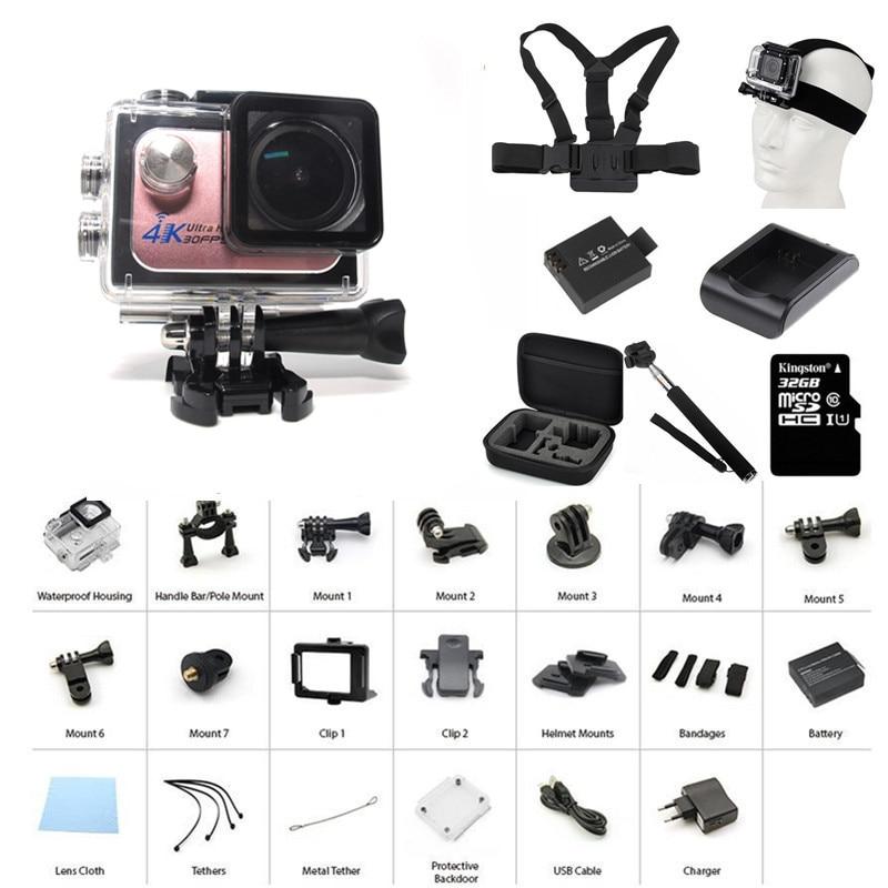 ФОТО Go Pro Sport Camaras Deportiva Waterproof Car Camera Cam SJ Mini 4K Wifi Action Camera Go Pro Wireless Camara Battery Q5H-3