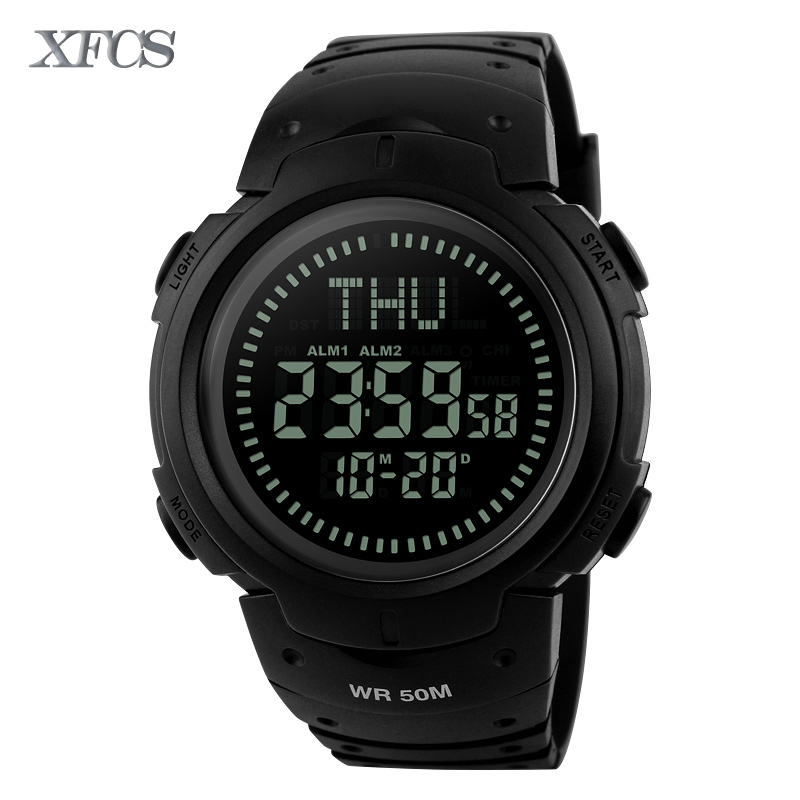 XFCS 2017 waterproof wrist digital automatic watches for men digitais watch running mens man digitales shock clock cheap saat