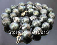 Ddh001555 AAA + 16mm Tahitian barocken südsee perle halskette