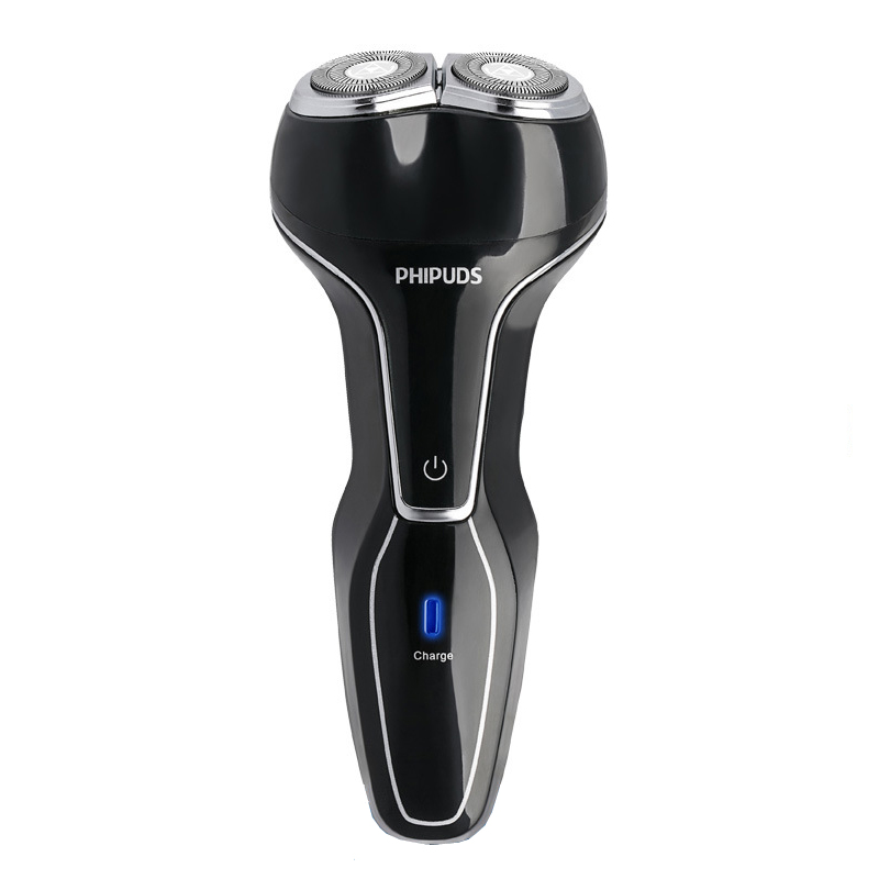 PHIPUDS Electric Shaver for Men USB Rechargeable 3D Floating Twin Blades Heads Shaving Razors Face Care Beard Trimmer Machine queenme waterproof five blades wet dry electric shaver for men with folding charging base rechargeable washable face beard