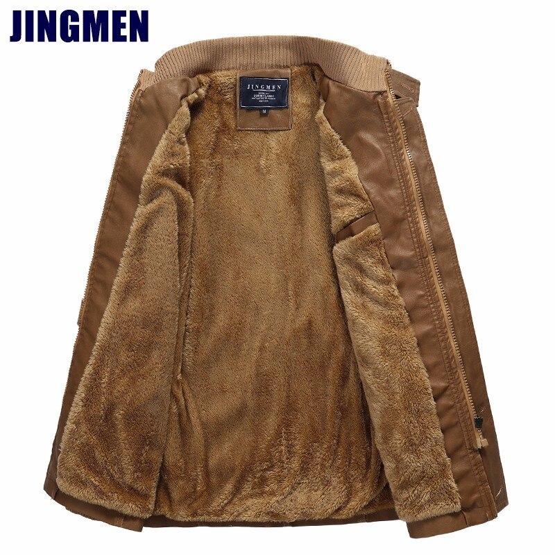 36950c4c3a4 Кожаная куртка мужчины осенью и зимой мужской плюс бархатные толстые теплые  куртки из искусственной кожи в Европе и США Большие размеры M-4XL