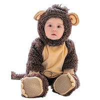 Baby Halloween Baby Monkey Animal Shape Romper Brown Cute Hooded Suit 1PC romper + 1PC shoes + 1PC hatRoupa De Bebe