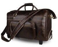 J. м. D отличную Винтаж Пояса из натуральной кожи вещевой мешок большая мода Повседневное сумка Классический Бизнес путешествия Чемодан сумк