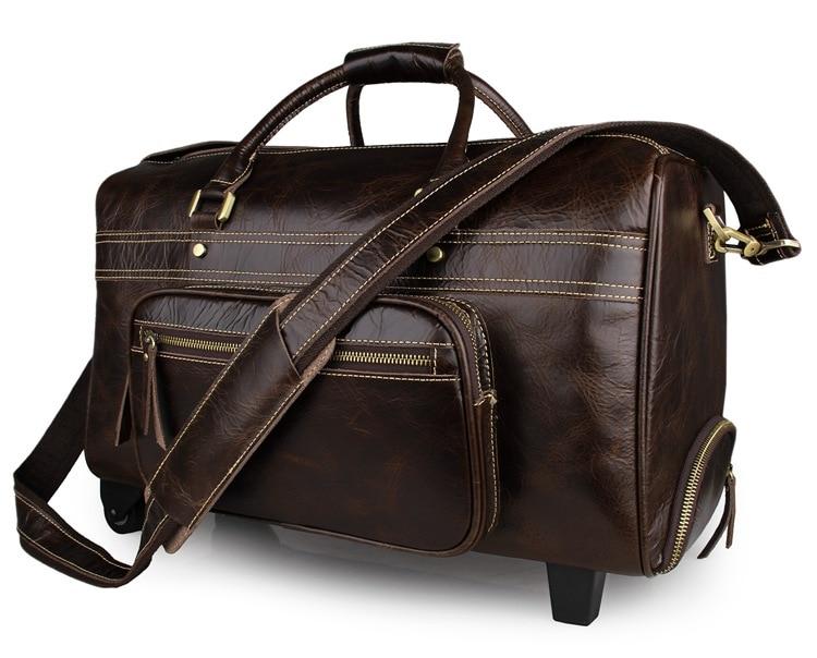 J.M.D Excellent Vintage Genuine Leather Duffle Bag Big Fashion Casual Tote Bag Classic Business Travel Luggage Bag 7317C цена 2017