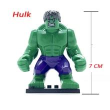 Green Hulk Single Sale Large Figures Marvel s The Avengers Super Heroes DIY Bricks Models Building