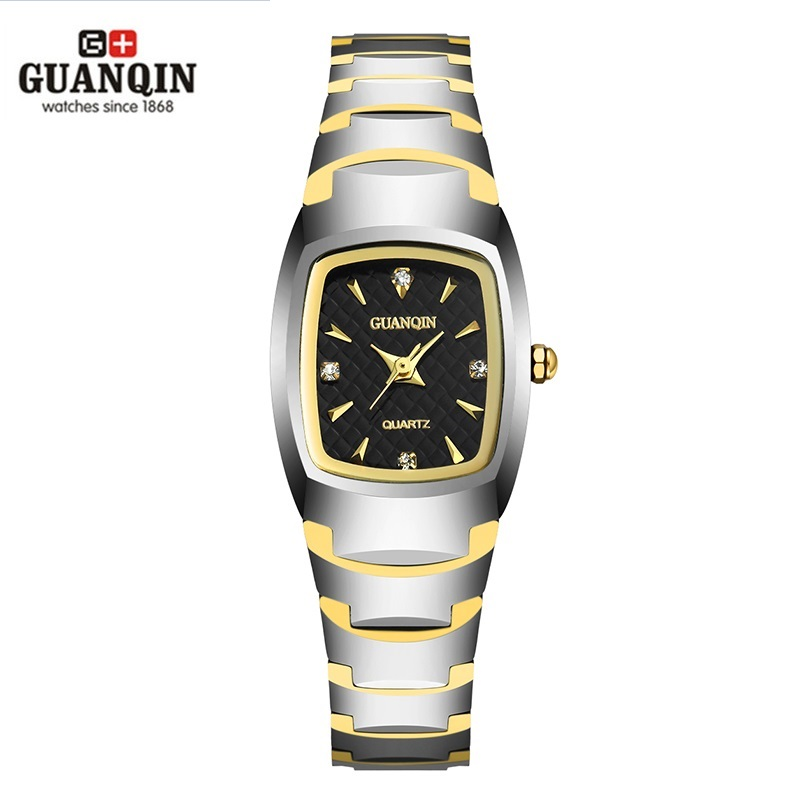 Brand GUANQIN Woman Watch Square Quartz Woman Girls Watch 2016 Luxury Tungsten steel Women Dress Diamond For Woman Ladies WatchBrand GUANQIN Woman Watch Square Quartz Woman Girls Watch 2016 Luxury Tungsten steel Women Dress Diamond For Woman Ladies Watch