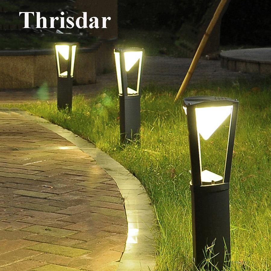 Us 65 68 30 Off Thrisdar Outdoor Stand Pole Column Led Lawn Light Aluminum Garden Bollards Waterproof Courtyard Park Landscape In