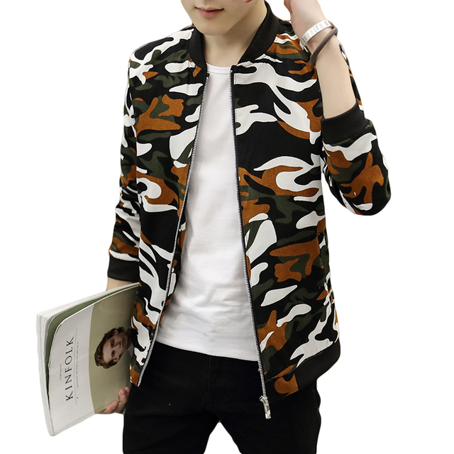 d5e8a7b6b75c9 4 Colors Camouflage Bomber Jacket Men Fashion Spring Clothes Slim Fitted Casual  Jacket Coat Men Baseball Style Male Windbreaker