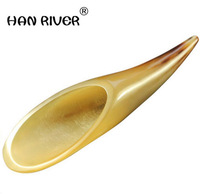 HANRIVER General multifunctional massagers portable natural horn scrapping tube plate horn massage general neck muscle pull rod