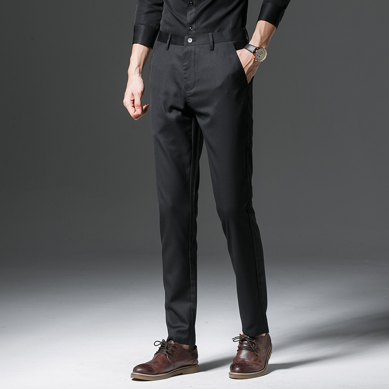 2017 Neue Herren Business Baumwolle Anzug Hosen Männer Casual Formalen Kleid Männlichen Mann Hohe Qualität Hosen Freies Verschiffen