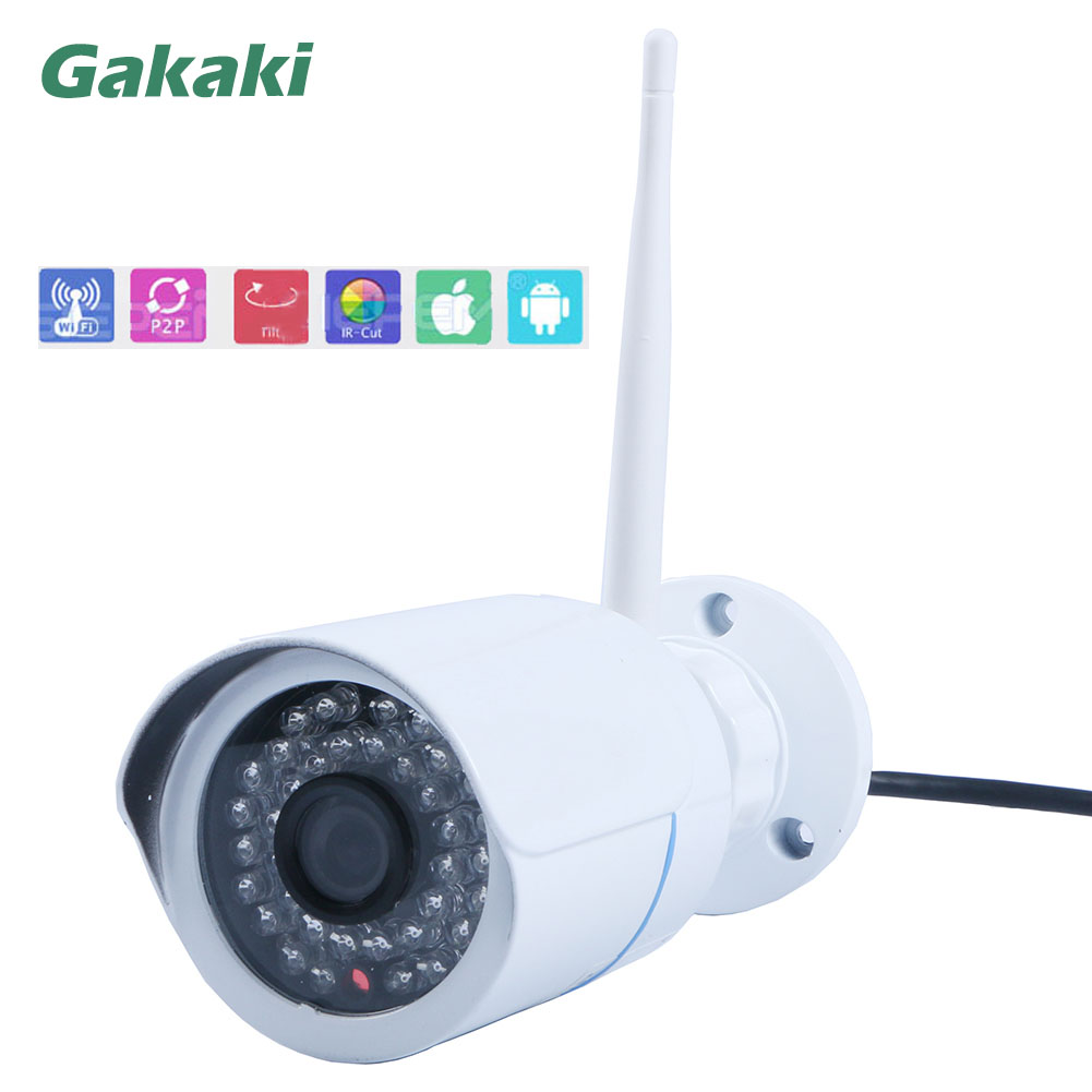 Gakaki HD 720P mini outdoor IP Camera Wifi Wireless Waterproof ONVIF CCTV Security Network Ip Cam IR Night Vision WI-FI Camera new waterproof ip camera 720p cctv security dome camera video capture surveillance hd onvif cctv infrared ir camera outdoor